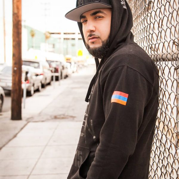 Our Wounds Are Still Open Black on Black Hoodie w/Armenian Flag. Armenian Genocide clothes and gear available to order now: OpenWounds1915.com.